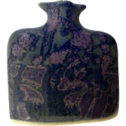 Beautiful Jason Bloom Hand Made Purple Pottery Miniature Vase ESP Signed by Pennsylvania Artist