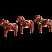 Skyrup Swedish Dala Horse Metal Tea Light or Votive Candle Holders