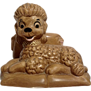 Vintage Twin Winton Poodle Dog Napkin Holder San Juan Capistrano California Pottery Figurine