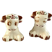 Twin Winton Cows in Love Salt and Pepper Shakers Ceramic S & P Figurines