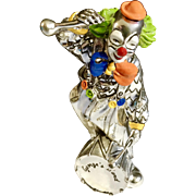 Marcello Giorgio Sterling Silver Laminate Clown Hand Painted Enamel Stamped Laminato AG Made in Italy Figurine