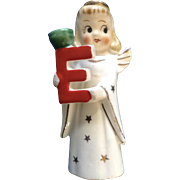Vintage NOEL Angel Girl E Figurine Small Candle Holder Ceramic Commodore Made in Japan