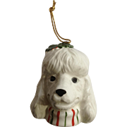 White Poodle Dog Christmas Pets Xmas Tree Ornament Ceramic Figurine