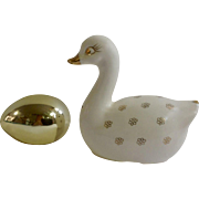 Holt Howard Goose With Golden Egg Salt and Pepper Shakers Mid Century HH Japan Figurines