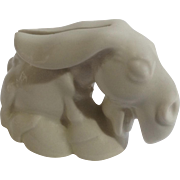 Listerine Shaving Cream Offer White Donkey Used Razor Blade Bank Ceramic Figurine