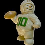 Lenox Snowman Football Player Quarterback 00 Ceramic Christmas Figurine 2000 Discontinued