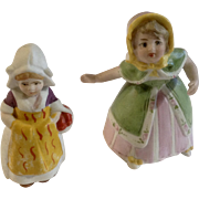 Vintage Bisque Dutch Girl Figurines Germany