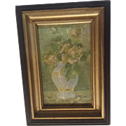 Vintage Still Life Print 1934 Flower Vase Small Wall Picture