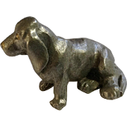 Basset Hound Dog Rawcliffe Pewter P. Davis Miniature Animal Figurine