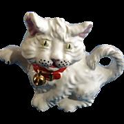 Vintage Price & Kensington White Kitty Cat Teapot P&K England