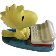 Woodstock Peanuts Character In Front Of Typewriter Friend Of Snoopy Ceramic Figurine UFS Inc.
