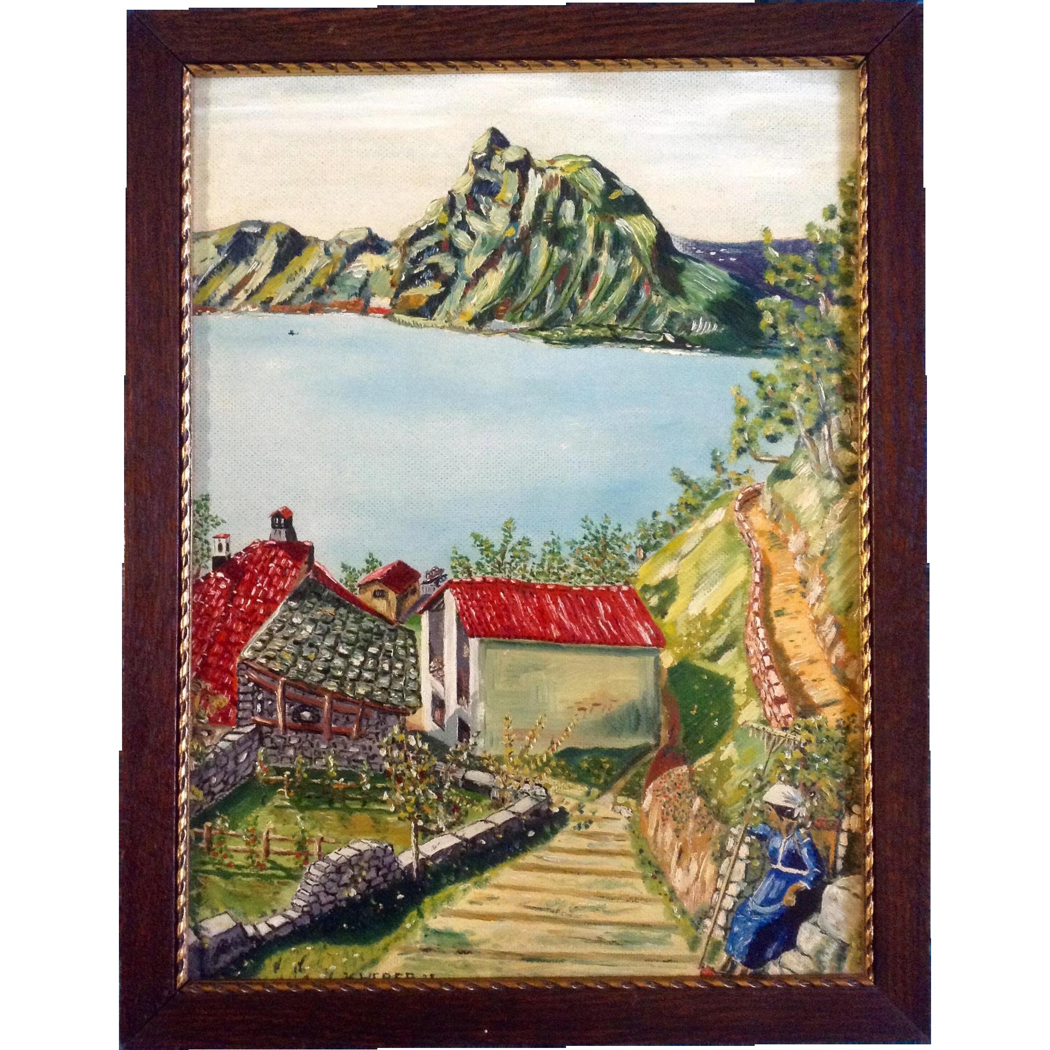 Artist Painting Of Gandria