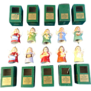 Goebel Angel Bell Christmas Tree Ornaments  Set of 10 West Germany Annual 1976 1977 1978 1979 1981 1982 1984 1985 1986