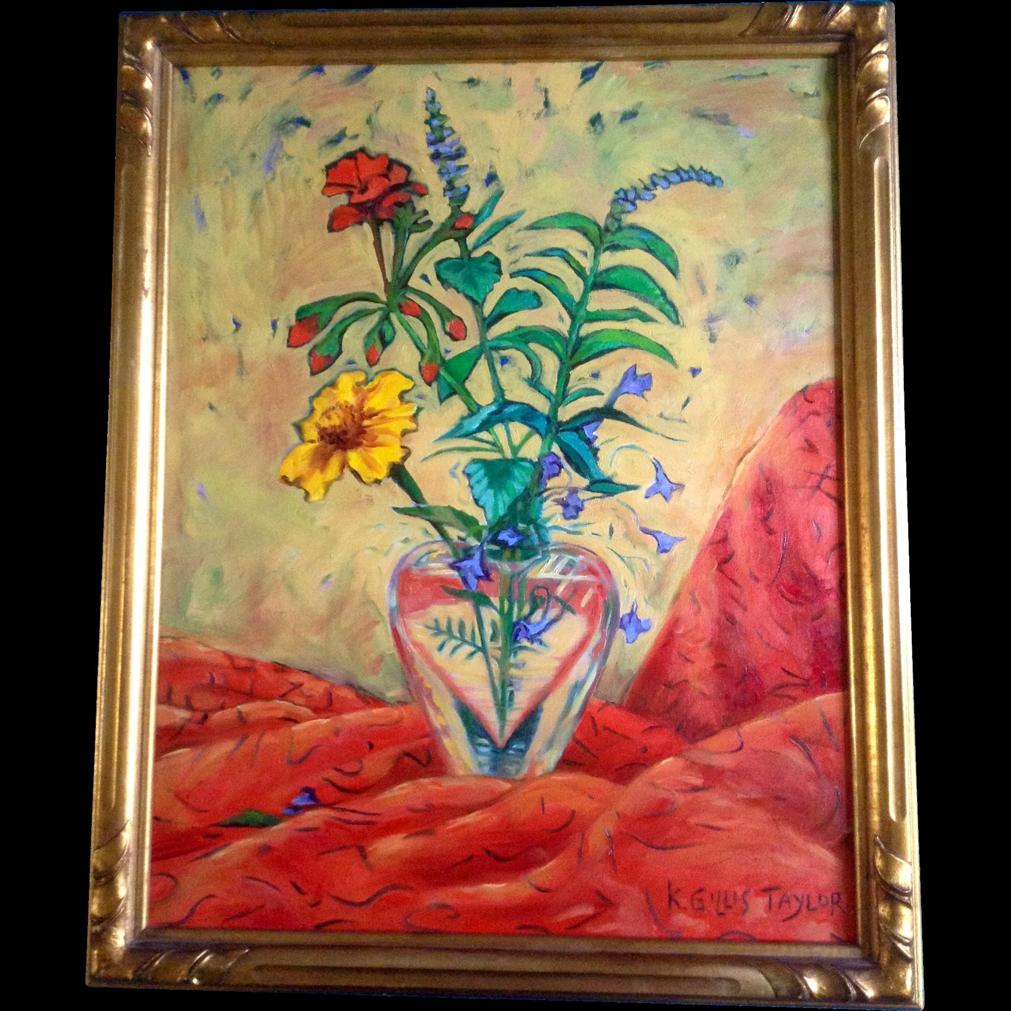 Karen gillis taylor wildflowers in a crystal heart vase acrylic karen gillis taylor wildflowers in a crystal heart vase acrylic gumgumfuninthesun ruby lane reviewsmspy