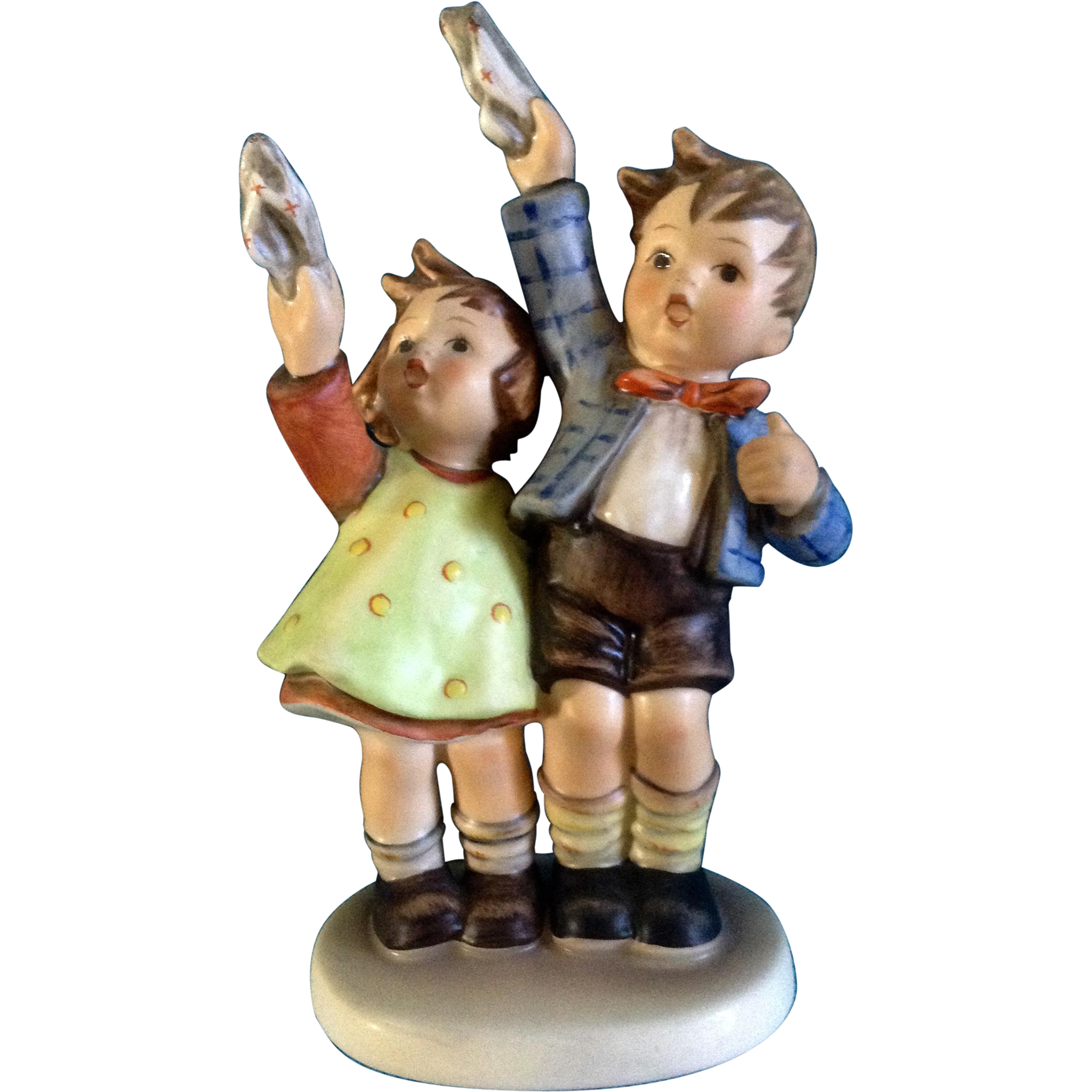 Hummel Figurine Auf Wiedersehen  153 Goebel Little Girl -2339