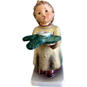Hummel Figurine A Gentle Glow, Das Lichtlein Brennt #439 Goebel Little Boy Candle Holder 5 -1/4""