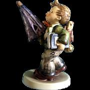 "Hummel Figurine Is It Raining? Regret's #420 Goebel Little Boy With a Umbrella 6-1/2"""