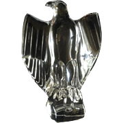 Baccarat Crystal Figurine Eagle Vintage French Napoleonic American Eagle Crystal Sculpture
