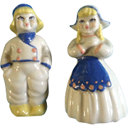"Vintage Salt & Pepper Shakers 1942-55 Ceramic Arts Studio 3"" Tall Dutch Boy & Girl Set"