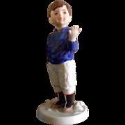 "Royal Copenhagen Figurine MALIK 2010 Annual 5"" 10th in series Adorable Boy"