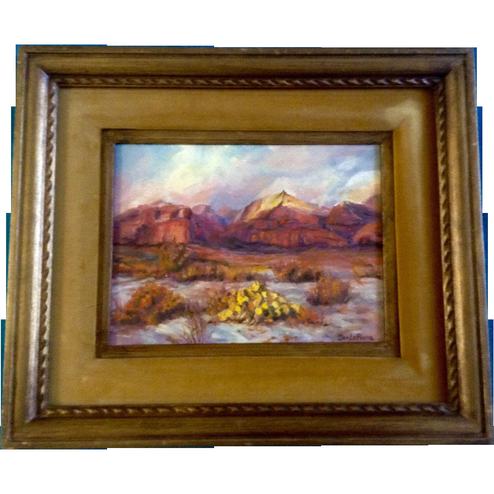 Dee Lefevre Oil Painting On Canvas Board Landscape