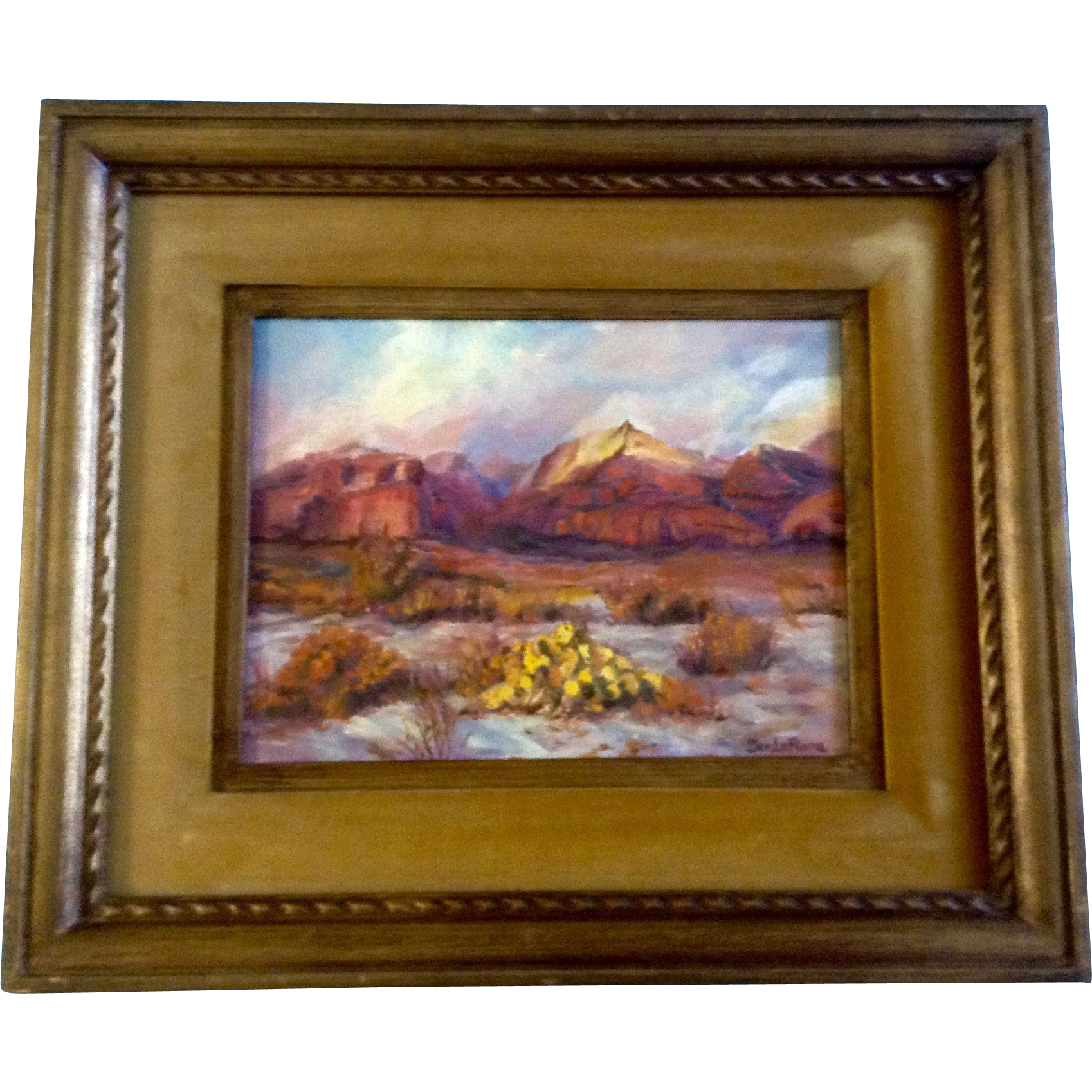 Dee lefevre oil painting on canvas board landscape for Framing canvas paintings