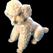 Wien Keramos Poodle Dog Austria Porcelain Figurine 1930-1950 (Wein) Vintage