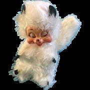 Rushton Stuffed Animal Rubber Face Skunk White Plush Atlanta Georgia Toy Company 1960's Vintage