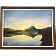"R. Garcia, Acrylic Painting on Canvas, Signed by Artist, Titled, ""Sunrise at Estes Lake"" Estes Park Colorado"