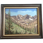 Patrick Michael Karnahan, Original Oil Painting on Canvas, Signed by Artist, 'Sonora Pass' California Spring Time in the Sierra Nevada Mountains