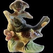 Lefton Redstart Birds Vintage Japan Ceramic Animal Figurine