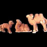 Bone China Miniatures Camel Family Set Vintage Taiwan Animal Figurines