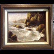 Frank 'Gus' Gustafson, Oil Painting Seascape, Oregon Coastal View
