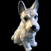 "Harvey Knox Scottish Terrier White Dog H227A83 Ceramic Figurine  9-3/4 "" Vintage HHH Japan"