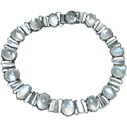 Antique Arts and Crafts Moonstone Bracelet