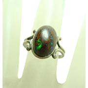 Arts and Crafts Boulder Opal Ring