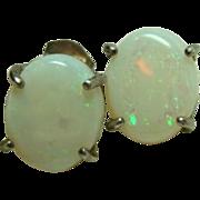 Vintage Opal Pierced Earrings