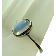 Vintage Moonstone Solitaire Ring