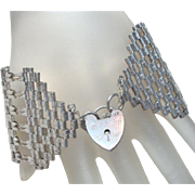 Wide Vintage Silver Gate Bracelet