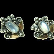 Vintage Sterling Moonstone Earrings
