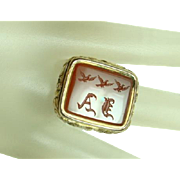Antique Gold and Carnelian Signet Ring