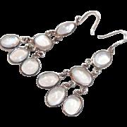Beautiful Vintage Moonstone Dangle Earrings