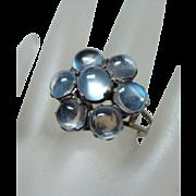 Beautiful Vintage Blue Moonstone Ring