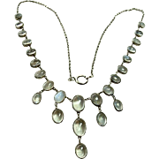 Fine Vintage Moonstone Drop Necklace