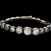 Deco Moonstone Sterling Line Bracelet