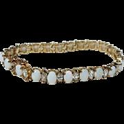 Vintage Opal and Crystal Bracelet