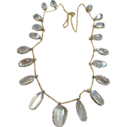 Antique Edwardian Moonstone Fringe Necklace
