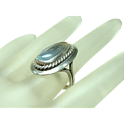 Beautiful Sterling Arts and Crafts Moonstone Ring