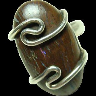 Vintage Large Boulder Opal Ring