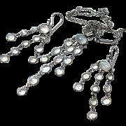 Vintage Moonstone Dangle Pendant and Earrings Set